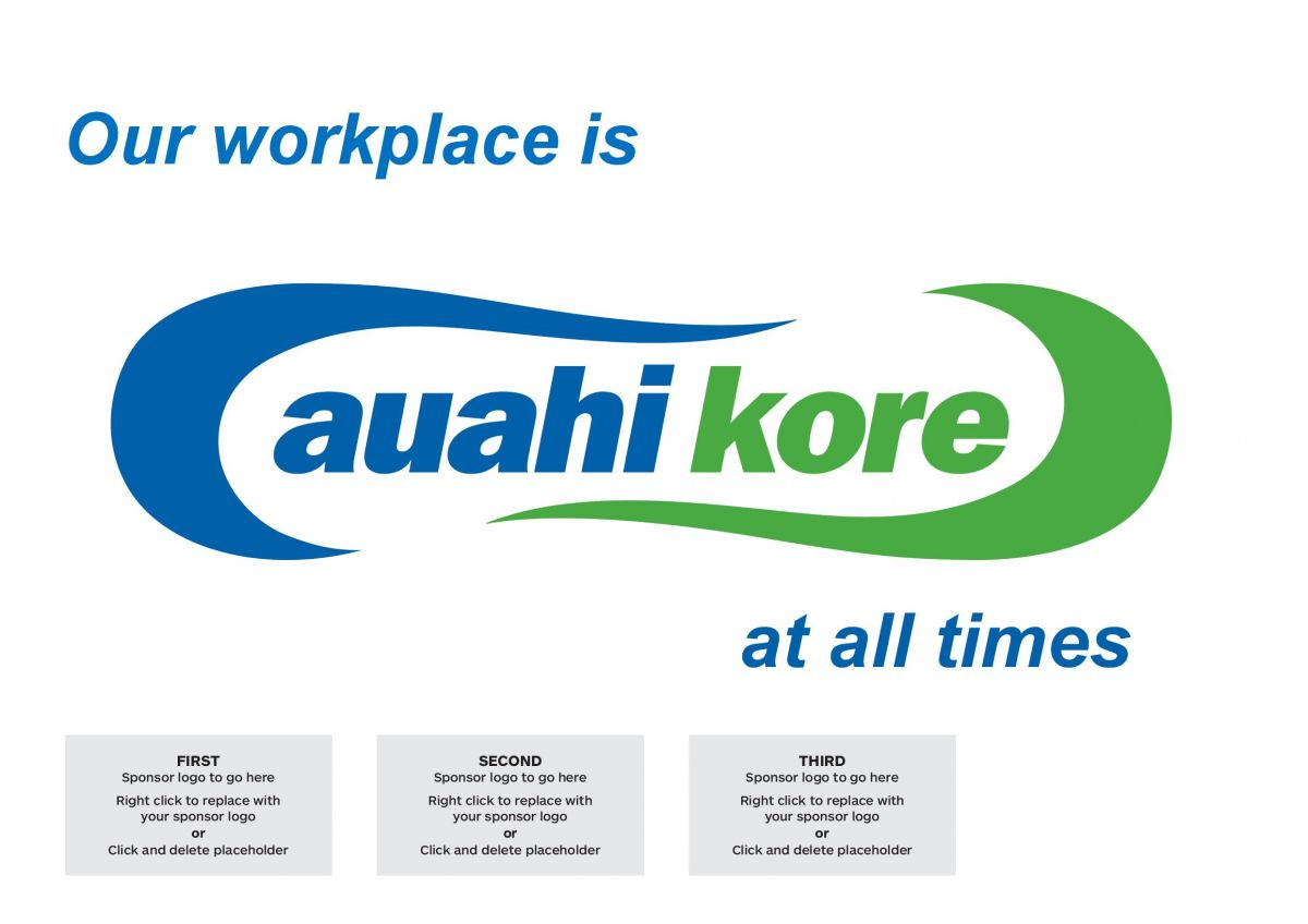 Printable sign - Our workplace is auahi kore at all times.