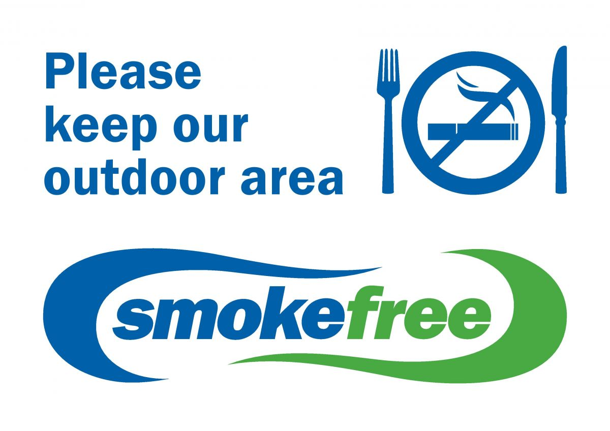Printable sign - Please keep our outdoor area smokefree.