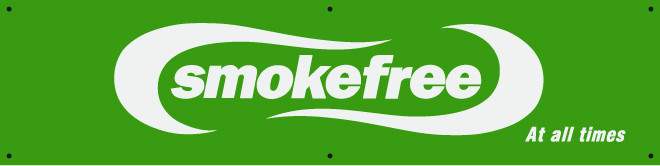 Smokefree Sign  - Smokefree at all Times.